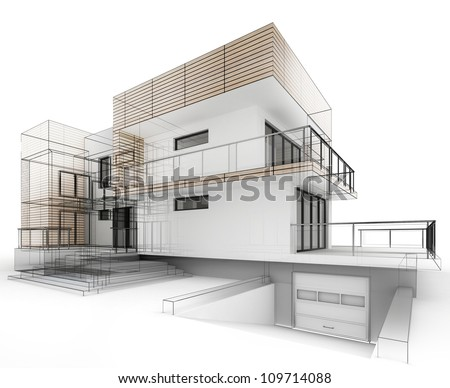 Architecture Houses Drawings house design progress architecture drawing visualization stock