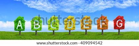 house ecology - stock photo