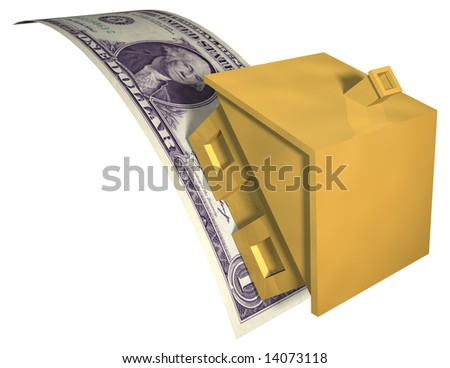 HOUSE FINANCIAL STRESS - stock photo