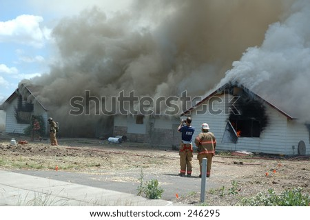 House Fire - stock photo