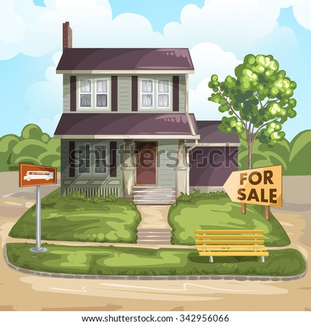 House for sale - stock photo
