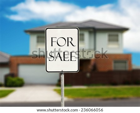house for sale. real estate concept - stock photo