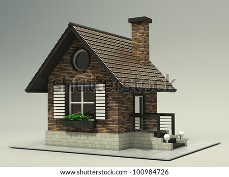 House  High resolution 3d - stock photo