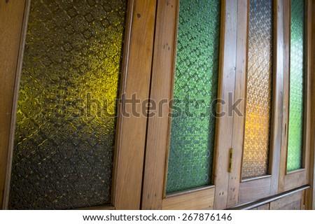 house home teak wood laccquer hard furniture  - stock photo