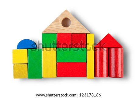 House icon isolated on white with shadow (clipping path)