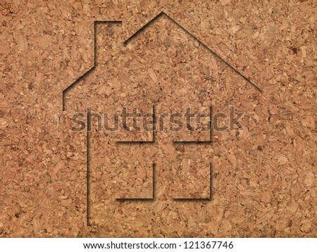House imprints on natural products - stock photo
