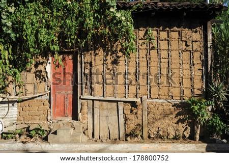 House in Concepcion de Ataco on El Salvador - stock photo