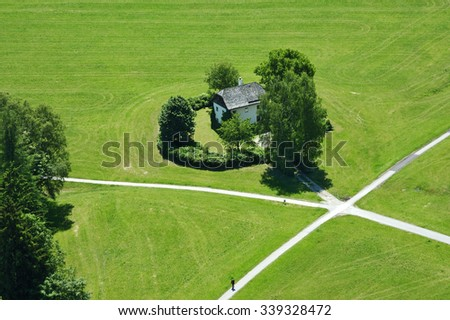 House in countryside - stock photo
