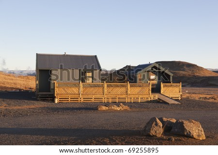 House in Kr�­suv�­k  Iceland - stock photo