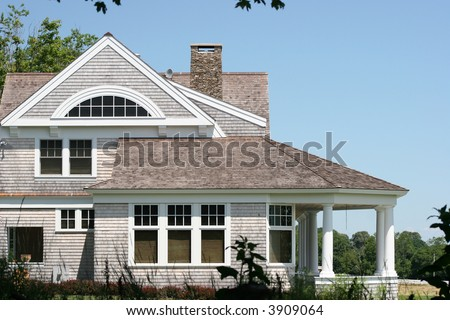 House in New England. - stock photo