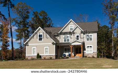 House in suburb of Raleigh - stock photo
