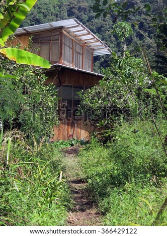 House in the cloud forest. Intag, Ecuador - stock photo
