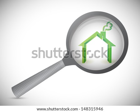 house inspection illustration design over a white background - stock photo