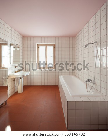 House interiors furnished, bathroom