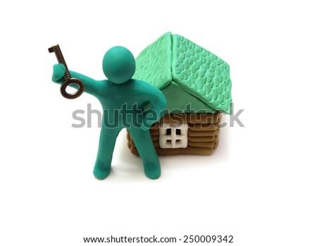 House  isolated       - stock photo