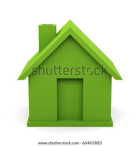 house isolated on white background. 3d image. - stock photo