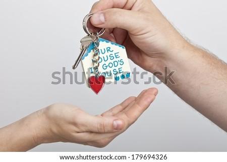 House Keychain - stock photo