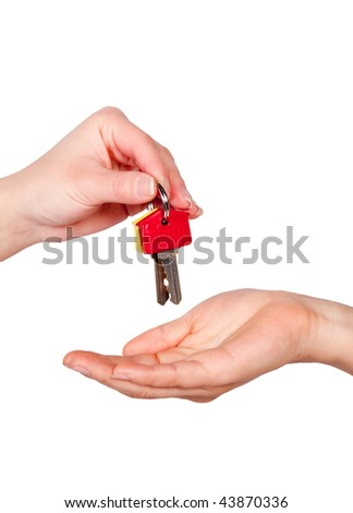 House keys being handed to a new homeowner