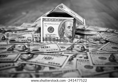 House Made of Cash Money - stock photo