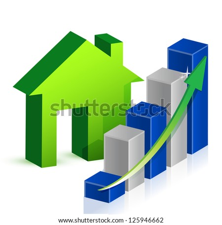 house market Business illustration design over a white background - stock photo