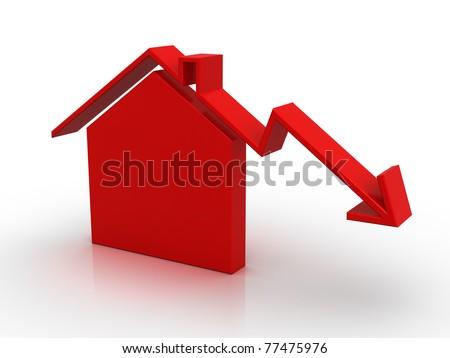 House market (isolated) - stock photo