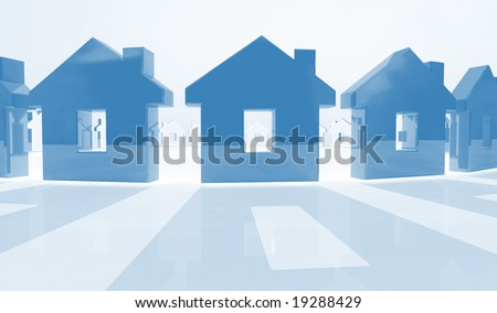 house model 3d  background - stock photo