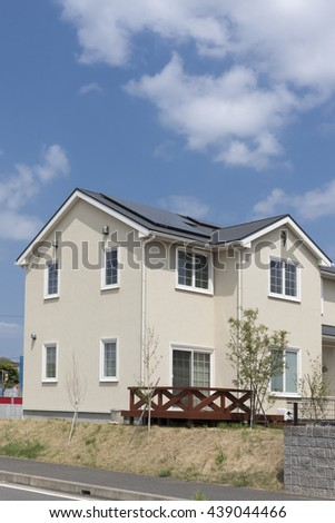 House new homes image solar panel installation and clear blue sky Wood Terrace