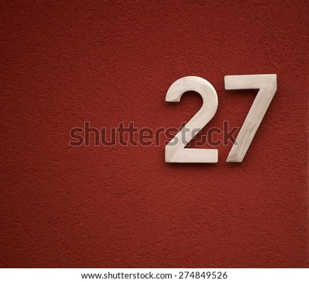 House number 27 - stock photo