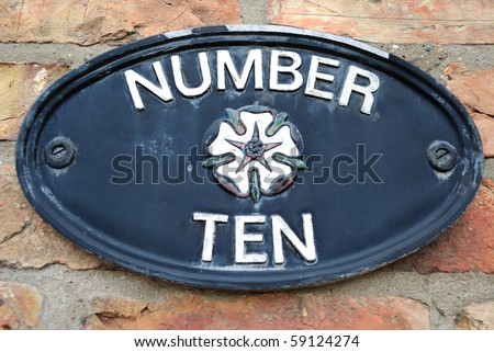 House number 10. - stock photo