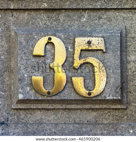 House number thirty five (35)