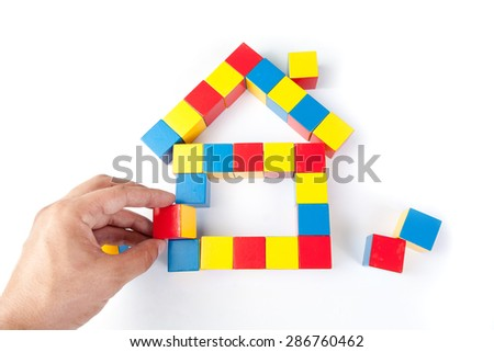 House of colorful cubes - stock photo