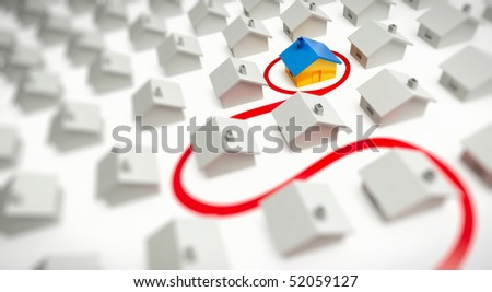 house of dream - stock photo