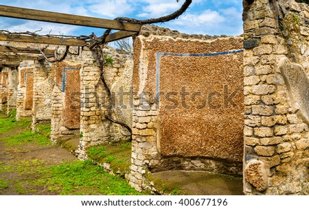 House of Julia Felix in Pompeii - Italy - stock photo
