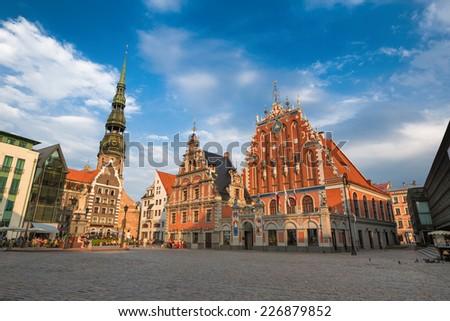 House of the Blackheads (Riga, Latvia) - stock photo