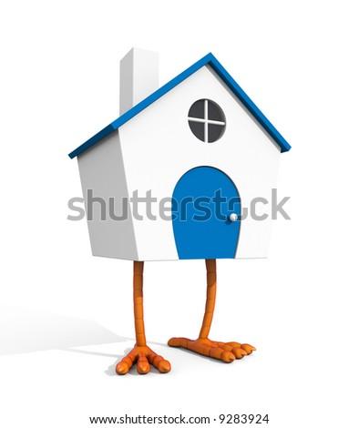 House on chicken legs - stock photo