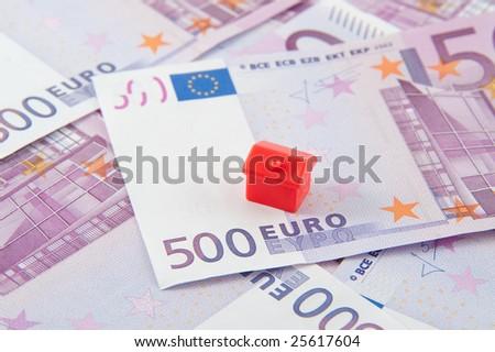 house on euro - stock photo