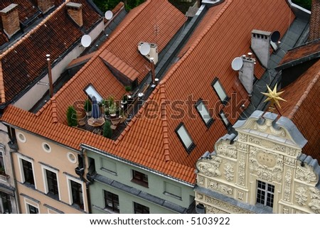 House on the roof - stock photo