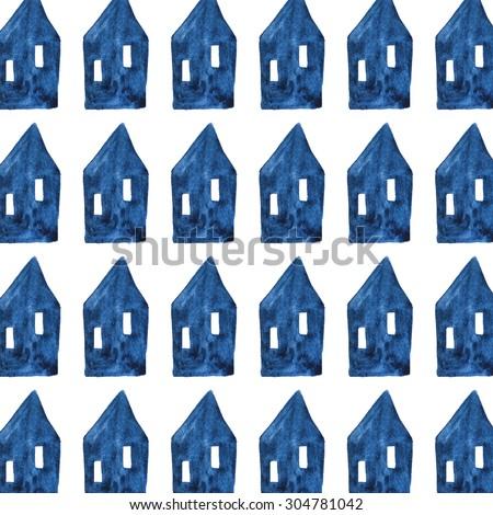 House pattern - stock photo