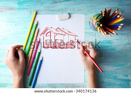 House picture, concept real estate - stock photo