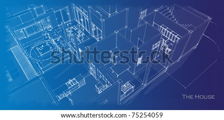 House plan - stock photo