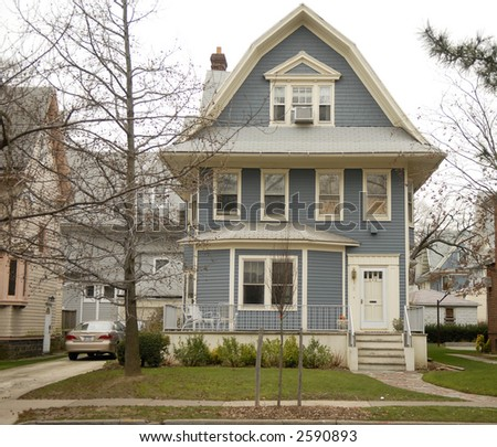 house (pre-1990) - stock photo