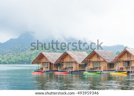 house Resort in Ratchaprapha Dam at Khao Sok National Park,Thailand.