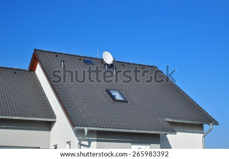 House roof roofing - stock photo