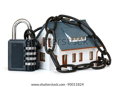 house security concept - stock photo