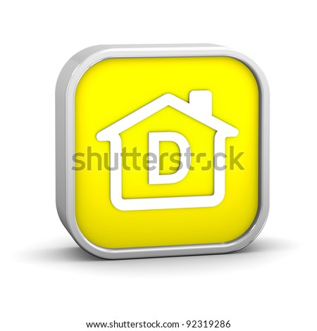 House Sign with D energy performance classification - stock photo