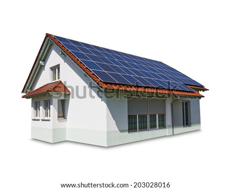 house solar - stock photo