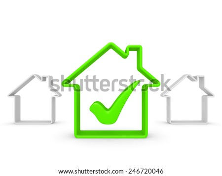 House symbol with check mark - stock photo