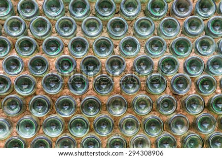 House wall made of bottles