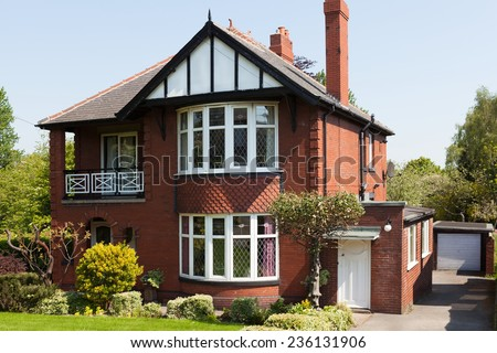 House with garden - stock photo