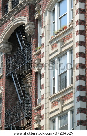 House with red bricks - stock photo